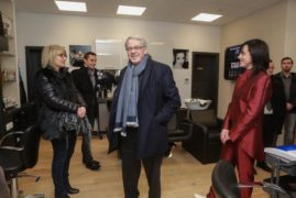 Inauguration du Salon en présence du Maire de Colmar Gilbert Meyer