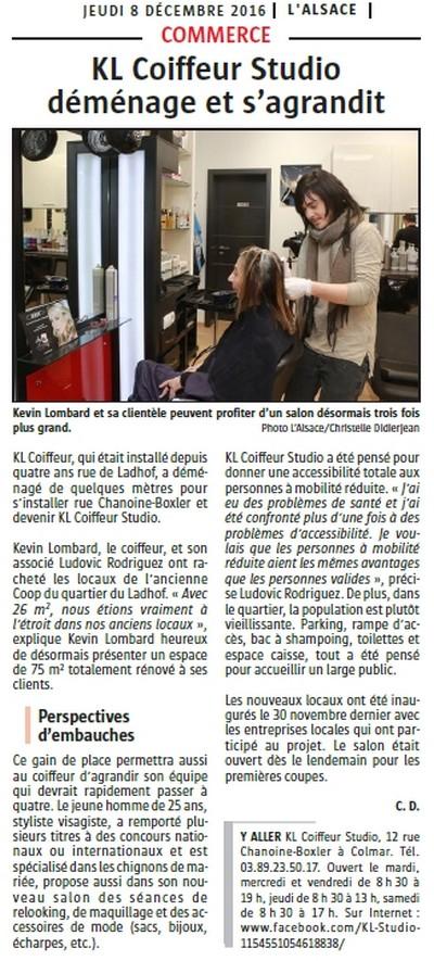 Article paru dans L'Alsace